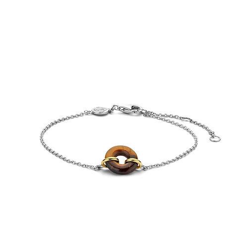 2968TE Ti Sento zilveren armband tijgeroog