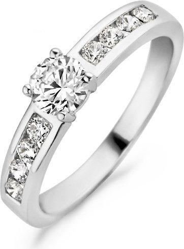 1126WZI Blush ring witgoud zirconia