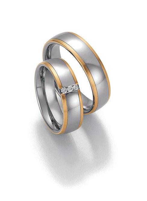 88-60130-60140 Collection Ruesch White Style Steel & Gold Sensation