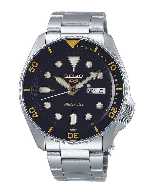 SRPD57K1 Seiko 5 Sports Automatic SS Bracelet Zwart 100