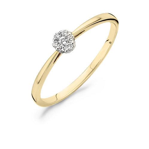 1609BDI Blush ring Diamonds 0,07ct