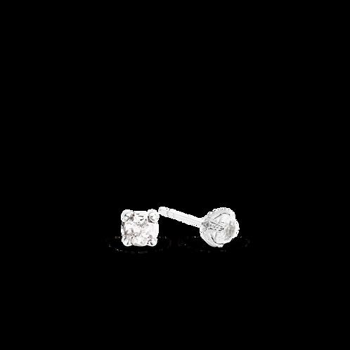 7801TC Ti Sento zilveren oorstekers met witte crystals