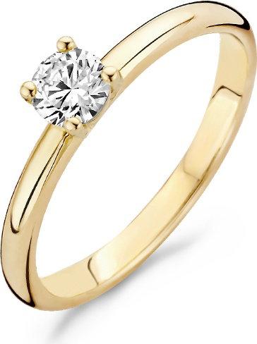 1133YZI Blush ring geelgoud zirconia
