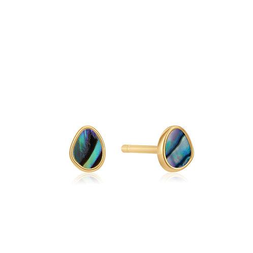 E027-04G Ania Haie Tidal Abalone Stud Earring