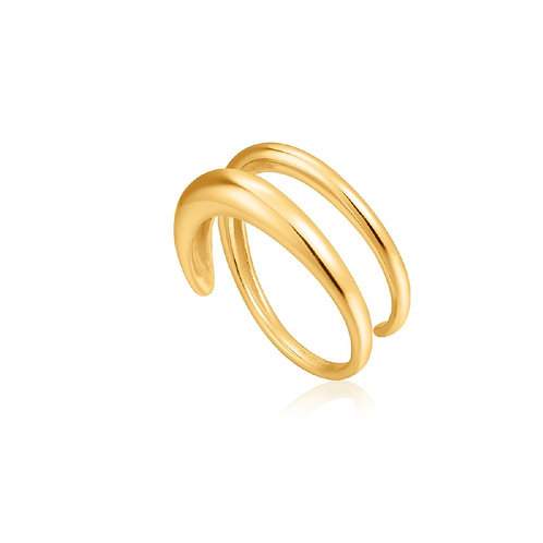 Ania Haie R024-02G Luxe Twist Adjustable Ring S