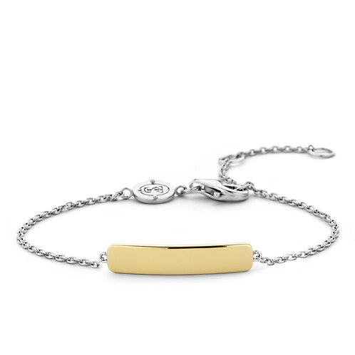 2879SY Ti Sento zilver vergulde armband