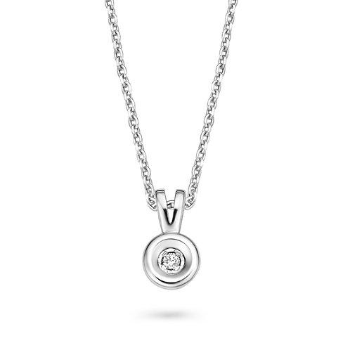 61410300 Rosa di Luca zilveren collier briljant 0,03ct