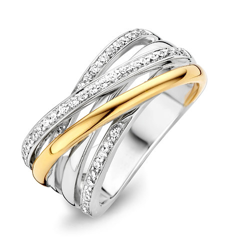 15088AY Moments zilveren ring verguld