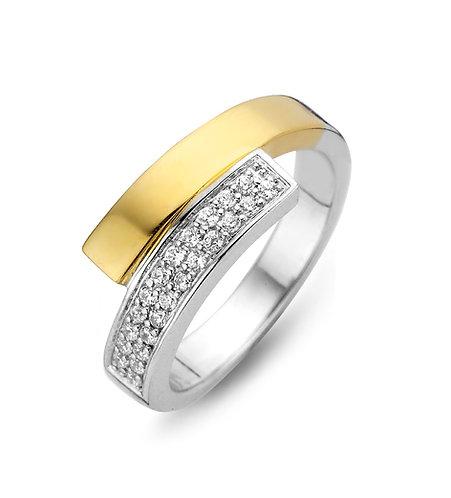 15104AY Moments zilveren ring verguld