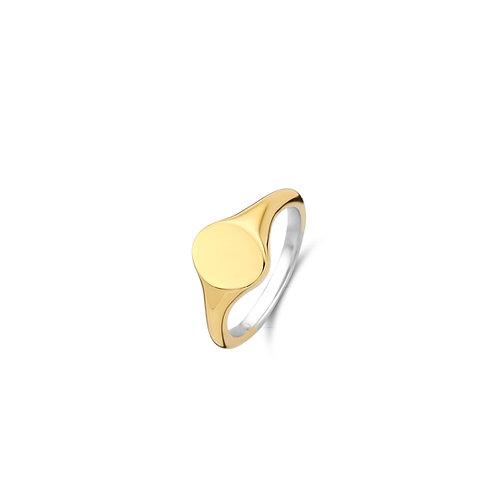 12115SY Ti Sento zilveren ring geelgoud verguld
