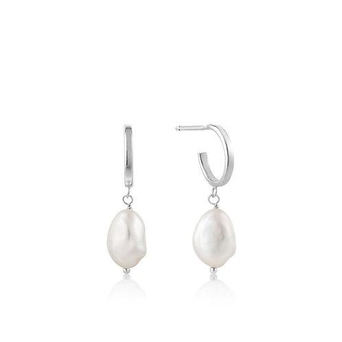 Ania Haie E019-02H Pearl Mini Hoop Earrings