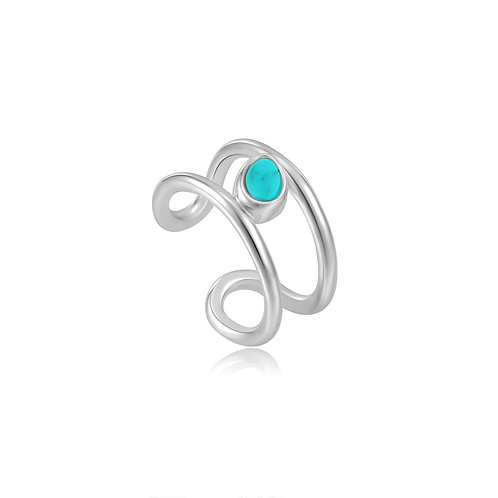 E027-02H Ania Haie Tidal Turquoise Ear Cuff