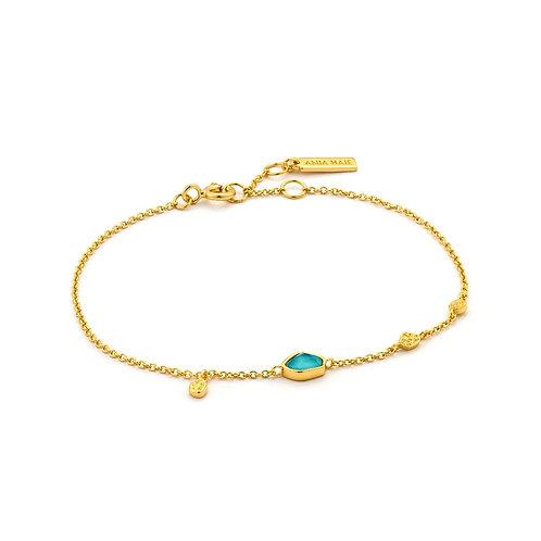 Ania Haie B014-01GTurquoise Discs Bracelet M
