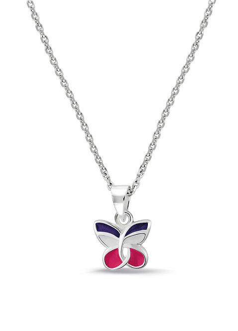 574042 bellini zilveren collier met hanger met vlinder