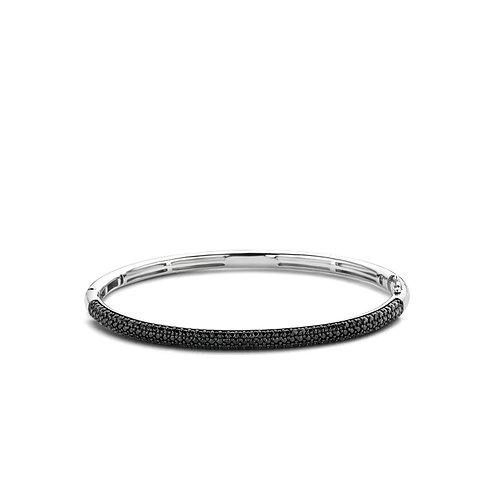 2874ZB Ti Sento zilveren armband met zwarte zirconia
