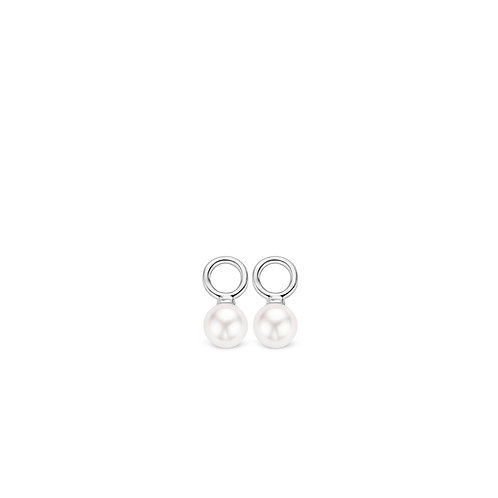 9181PW Ti Sento zilveren oorbedels met Swarovski parels