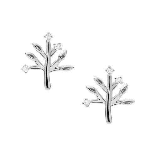 Fossil Silver Elliot oorknoppen JFS00548040