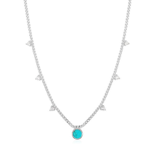 Ania Haie N022-03H Turquoise Drop Disc Necklace M