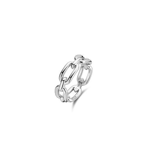 12205SI Ti Sento zilveren chain ring