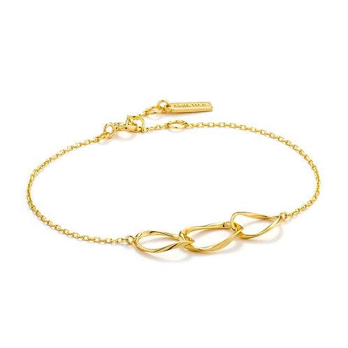 Ania Haie B015-01G Swirl Nexus Bracelet M