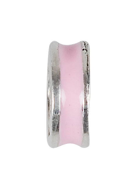 569100 Bellini zilveren bedel stopper roze