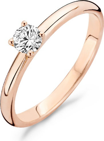 1132RZI Blush ring roodgoud solitair zirconia
