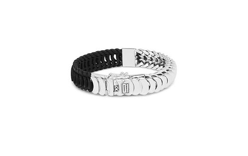 123 Buddha to Buddha Lars Mix Silver/Leather Bracelet