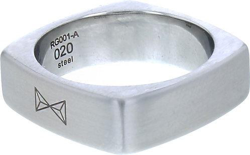 AZ-RG001-A-019 Ring Carre - Inox  Aze Jewels