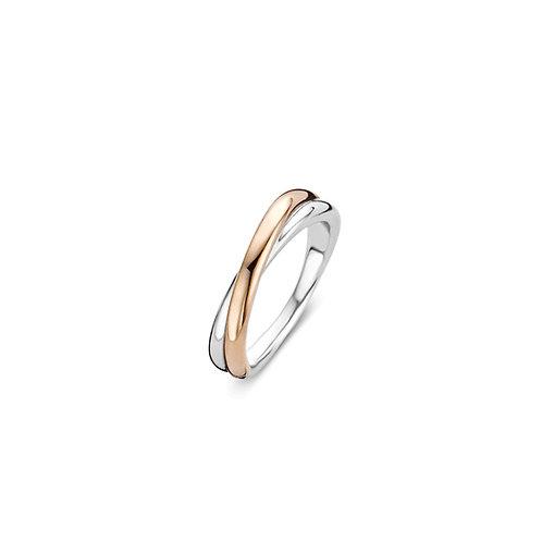 1953SR Ti Sento zilveren ring roségoud verguld