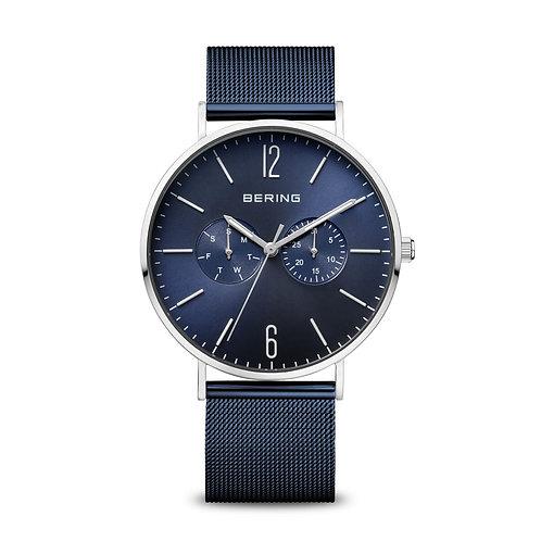 14240-303 Bering Classic herenhorloge blauw saffierglas