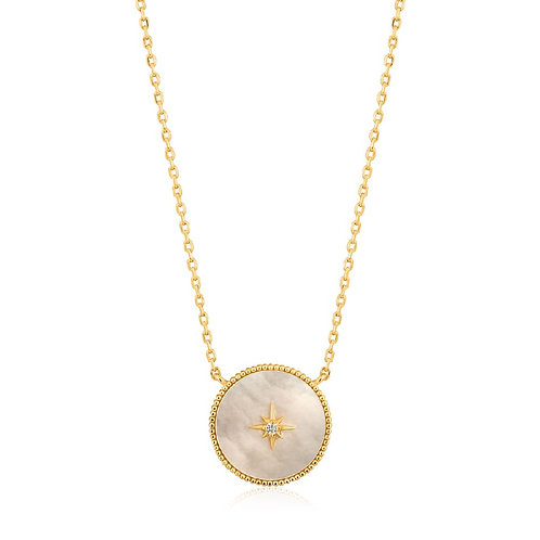 Ania Haie N022-02G Mother of Pearl Emblem Necklace M