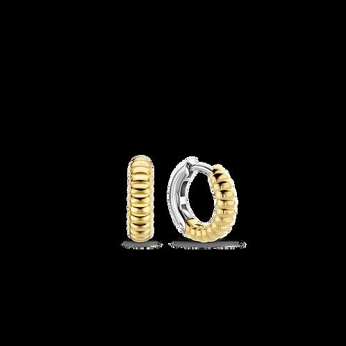 7839SY Ti Sento zilveren oorringen geelgoud verguld