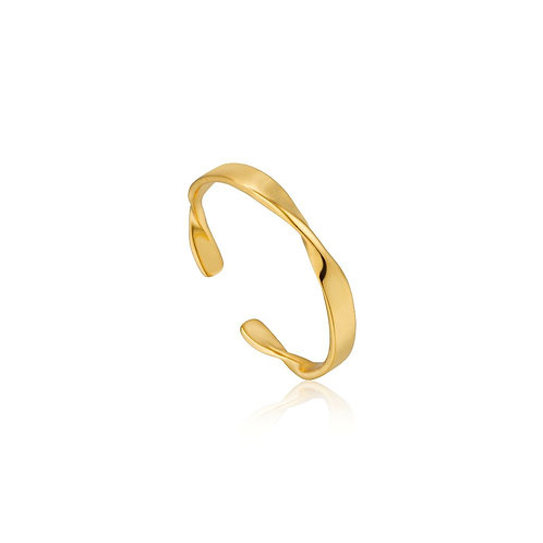 Ania Haie R012-04G Helix Thin adjustable ring gol