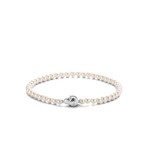 2908PW Ti Sento zilveren armband parel