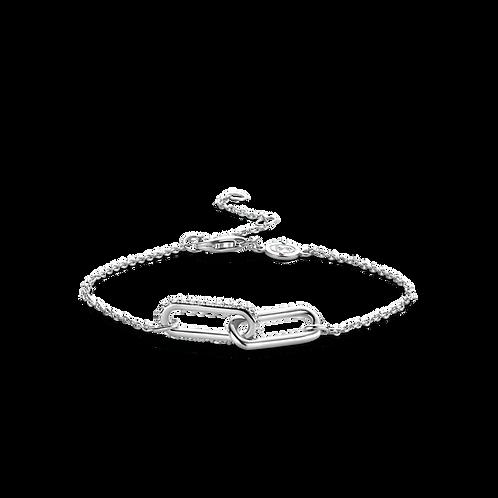 2960ZI Ti Sento zilveren armband schakel zirconia