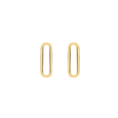 9063YGO Blush geelgouden oorbedels schakel