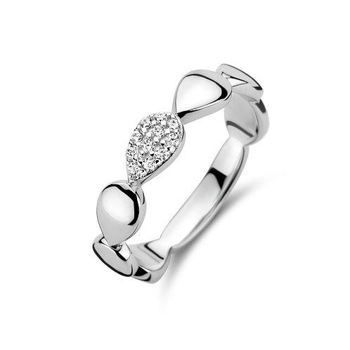 629683 Rosa di Luca zilveren ring zirconia