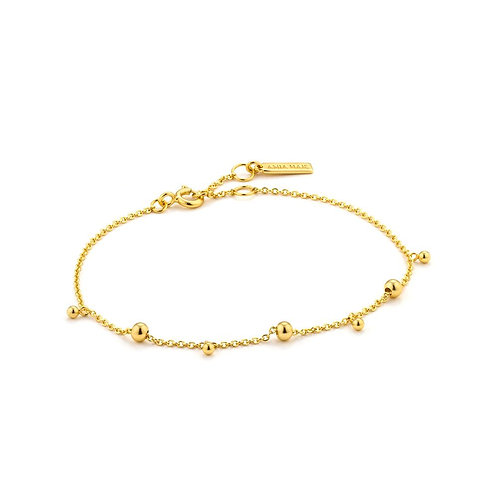 Ania Haie B002-03G Modern Drop Balls Bracelet M