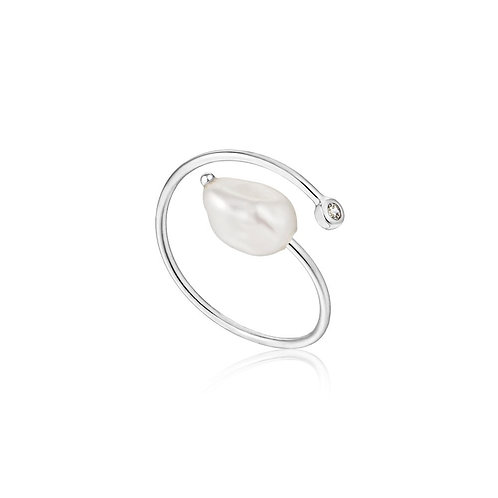 Ania Haie R019-01H  Pearl twist adjustable ring