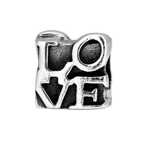 562448 Bellini zilveren bedel love