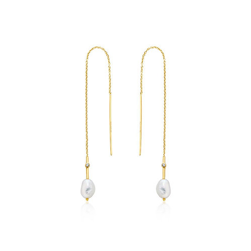 Ania Haie E019-01G Pearl Threader Earrings M