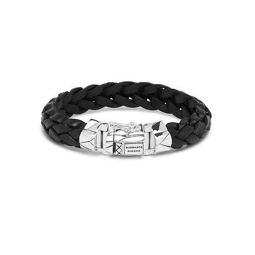 127BL  Buddha to Buddha Mangky Leather Bracelet Black