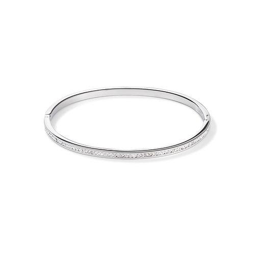 0129-37-1817 Coeur de Lion bangle crystal silver