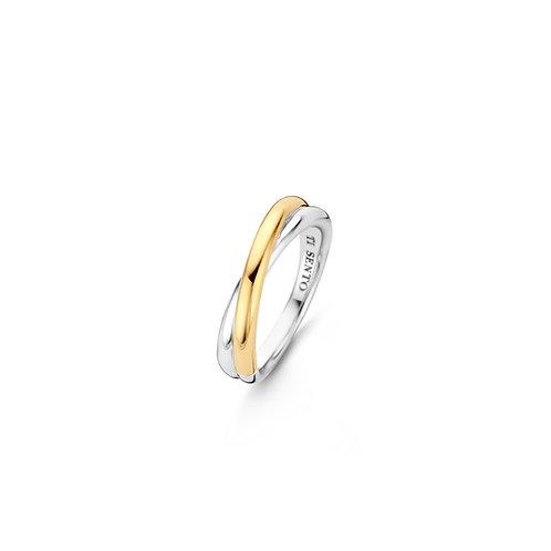 1953SY Ti Sento zilveren ring geelgoud verguld