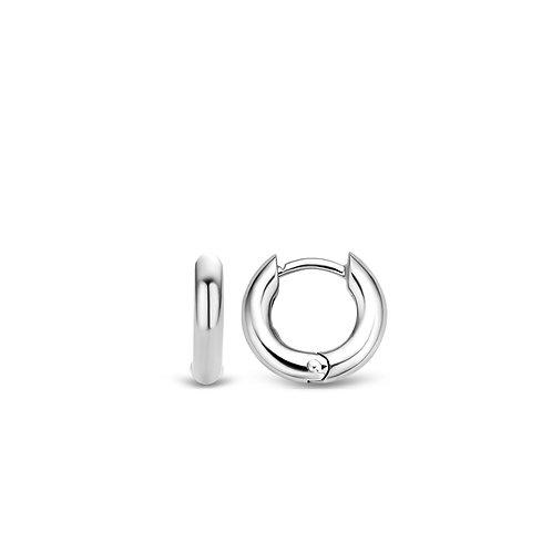 7210SI Ti Sento zilveren oorringen 14mm