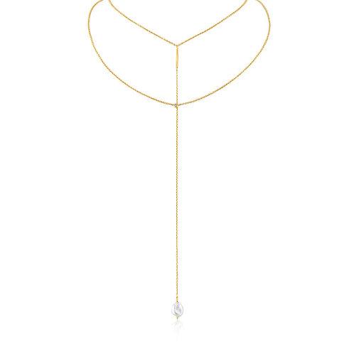 Ania Haie N019-01G Pearl Y Necklace L