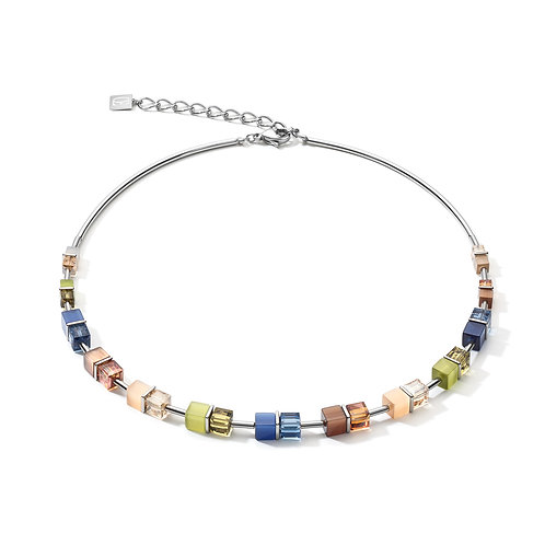 5020-10-0750 Coeur de Lion collier Blue-Brown-Olive