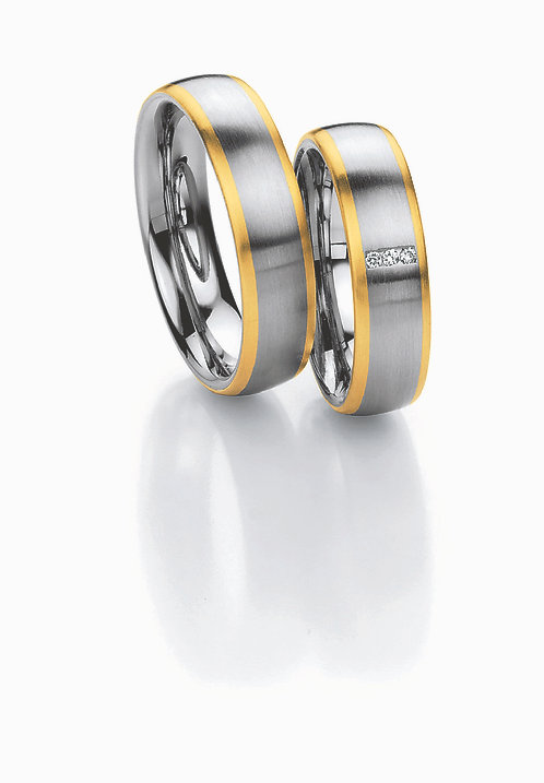 88-01310 Collection Ruesch White Style Steel & Gold Brilliant