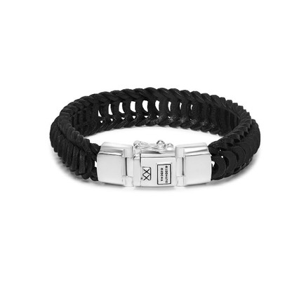 Lars Leather Bracelet Black_front.jpg