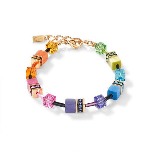 2838-30-1573 Coeur de Lion armband multi color rainbow gold